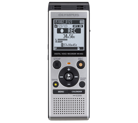 Olympus WS-852 Digital Voice Recorder Silver