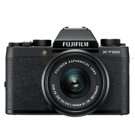Fujifilm X-T100 kit XC15-45mm f/3.5-5.6 OIS PZ Black