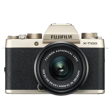 Fujifilm XT100 kit XC15-45mm f/3.5-5.6 OIS PZ Champagne Gold