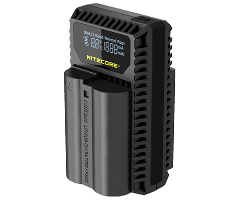 Nitecore UNK1 Dual-Slot USB Travel Charger for Nikon EN-EL14, EN-EL14a, and EN-EL15