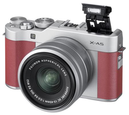 Fujifilm XA5 kit XC 15-45mm f/3.5-5.6 OIS PZ Pink