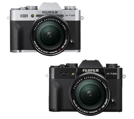 Fujifilm X-T20 kit XF18-55mm f/2.8-4 R LM OIS Silver