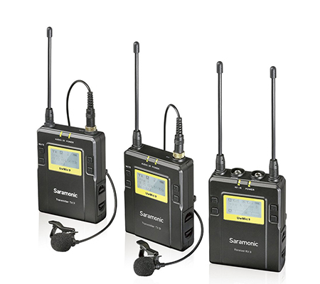 Saramonic UwMic9 TX9+TX9+RX9 Camera-Mount Wireless Omni Lavalier Microphone System