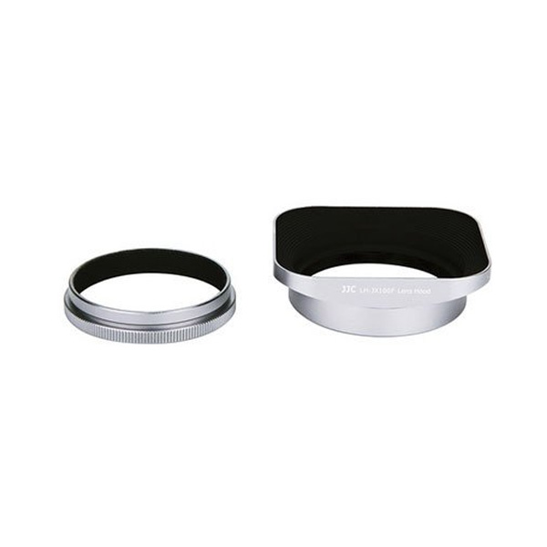 3rd Brand Lens Hood and Ring Filter Adapter for Fujifilm Silver