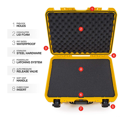Nanuk 940 Waterproof Hard Case with Foam Insert Yellow