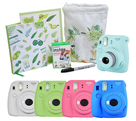 Fujifilm Holiday Package Instax Mini 9 Flamingo Pink