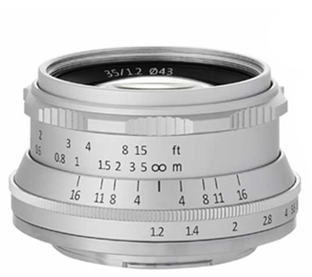 7Artisan 35mm f/1.2 for Fujifilm X Mount Silver