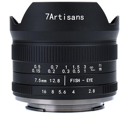 7artisans 7.5mm f/2.8 II Fisheye for Fujifilm X Mount Black