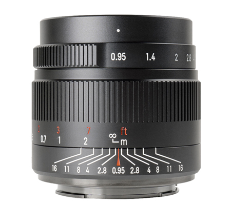 7artisans 35mm f/0.95 for Panasonic Olympus Micro Four Thirds Mount Black