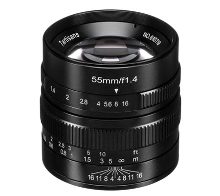 7artisans 55mm f/1.4 for Panasonic Olympus Micro Four Thirds Mount Black