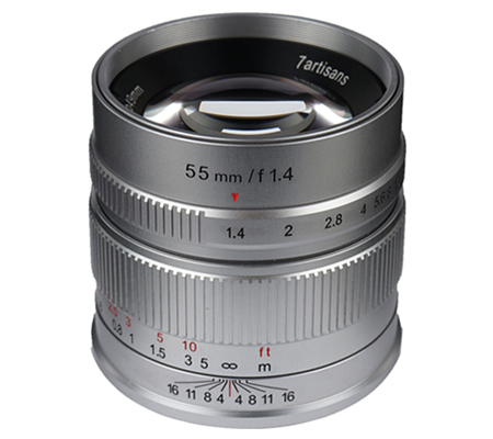 7artisans 55mm f/1.4 for Sony E Mount Silver
