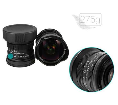 7artisans 7.5mm f/2.8 Fisheye for Micro Four Thirds Mount Black