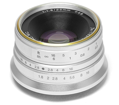 7Artisans 25mm f/1.8 for Fujifilm X Mount Silver
