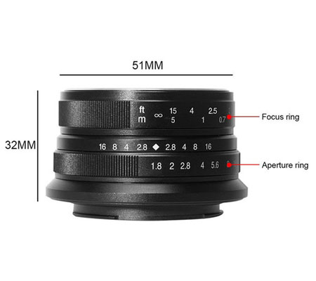 7Artisans 25mm f/1.8 for Panasonic Olympus Micro Four Thirds Mount Black