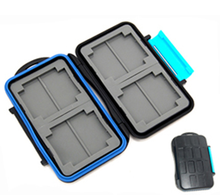 Memory Card Case Water-Resistant for 8 pcs SD Card, 4 pcs CF