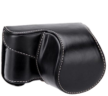 Camwear Leather Case for Sony A5100 Black