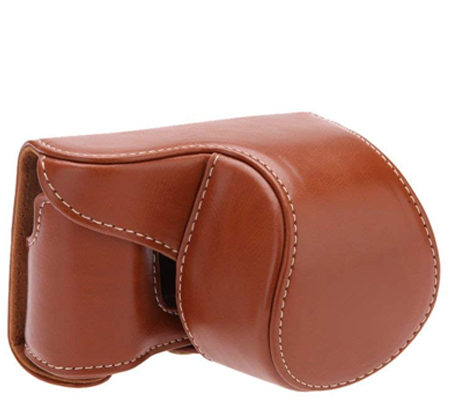 Camwear Leather Case for Sony A5000 Brown