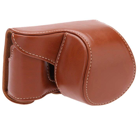 Camwear Leather Case for Sony A5100 Brown