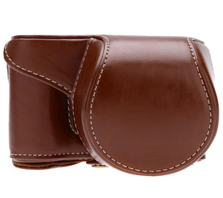 Camwear Leather Case for Sony A5000 Dark Brown