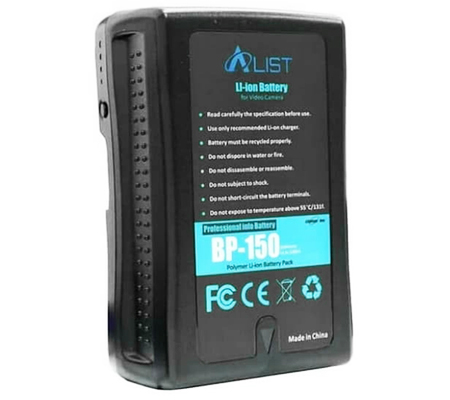 V Mount Battery ALIST BP-150 10400mAh + Charger