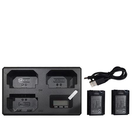 Avangarde Battery NP FZ100 + Triple Charger for Sony A9II/A9/A7RIV/A7RIII/A7III/A6600