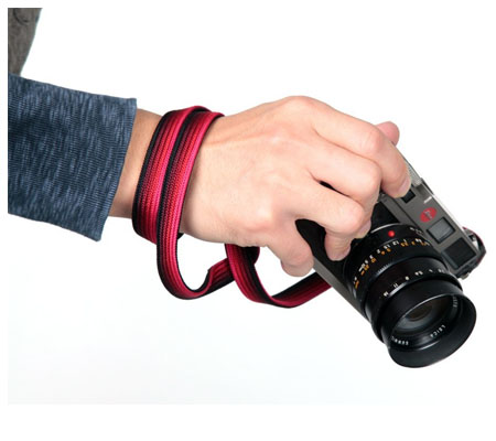 Artisan & Artist ACAM-312N Black and Red Silk Camera Strap