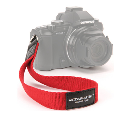 Artisan & Artist ACAM 295 Camera Wrist Strap Red