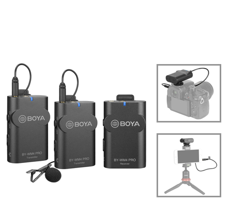 Boya BY-WM4 PRO-K2 Dual-Channel Digital Wireless Omni Lavalier Microphone