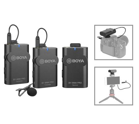 Boya BY-WM4 PRO-K2 Dual-Channel Digital Wireless Omni Lavalier Microphone