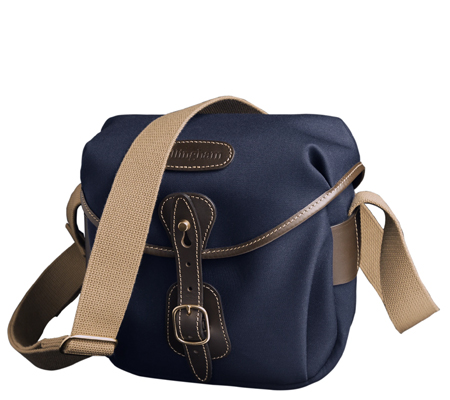 Billingham Hadley Digital Navy Canvas Chocolate Leather 100% Handmade in England