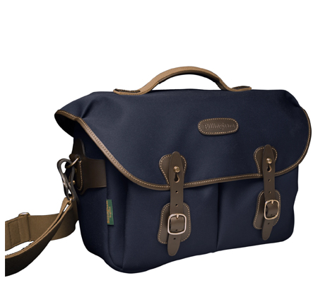 Billingham Hadley One Navy Canvas Chocolate Leather Camera Bag 100% Handmade in England