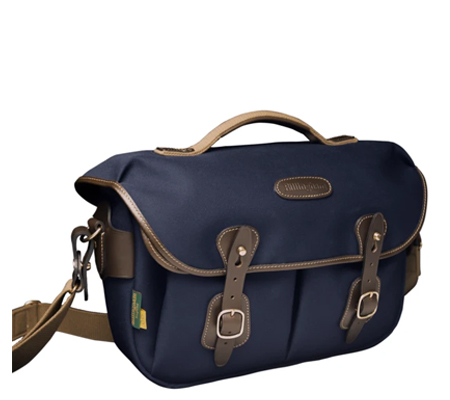 Billingham Hadley Pro 2020 Navy Canvas Chocolate Leather 100% Handmade in England
