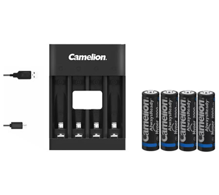 Camelion Pro Fast Charger + Battery AA 2500mAh BP4