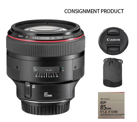 :::USED::: Canon EF 85mm f/1.2L II USM (Excellent-644) Consignment Product