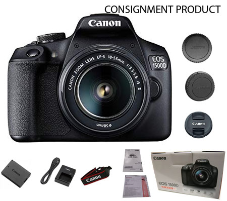 :::USED:::Canon EOS 1500D Kit EF-S 18-55mm IS II 100% Brand New Consignment