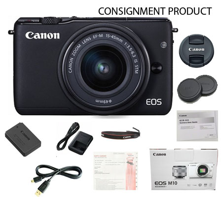 :::USED:::Canon EOS M10 Kit 15-45mm IS STM Black (Excellent) Kode 063/401 Consignment