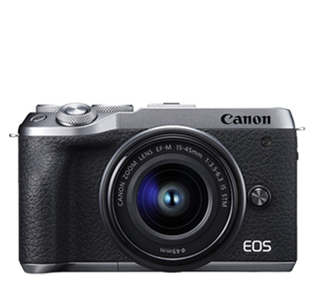 Canon EOS M6 Mark II kit 15-45 IS STM Mirrorless Camera Silver