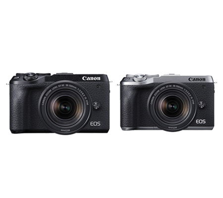Canon EOS M6 Mark II kit 18-150 IS STM Mirrorless Camera Silver