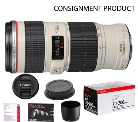 :::USED:::Canon EF 70-200mm f/4L IS USM (Excellent Kode 206) Consignment