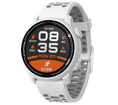 Coros PACE 2 Silicone Premium GPS Sport Watch White