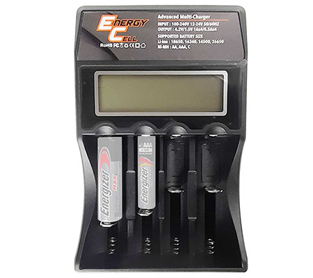 Energy Cell Digital Multi Charger 4 Slot for AA/AAA/C Battery