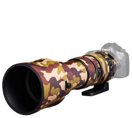 Easy Cover Lens Oak For Sigma 150-600mm f/5-6.3 DG OS HSM Sport Brown Camouflage