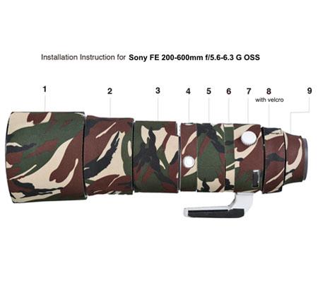 Easy Cover Lens Oak For Sony FE 200-600 f/5.6-6.3 G OSS Green Camouflage