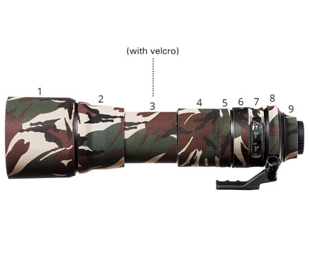 Easy Cover Lens Oak For Tamron 150-600mm f/5-6.3 Di VC USD Model AO11 Green Camouflage