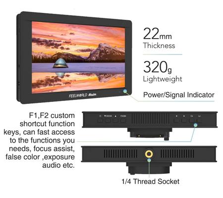 FeelWorld Master Series MA7S 7Inch On-Camera Field Monitor 4K 3G-SDI HDMI