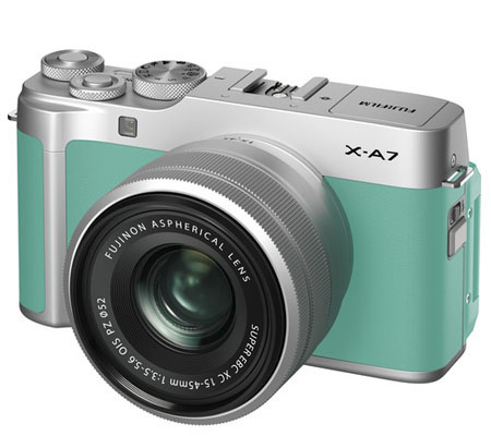 Fujifilm XA7 kit with XC 15-45mm f/3.5-5.6 OIS PZ Mint Green