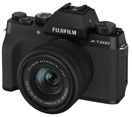 Fujifilm X-T200 kit XC15-45mm f/3.5-5.6 OIS PZ Black