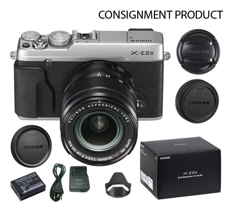 :::USED:::Fujifilm XE2S KIT 18-55 Silver (Exmint) Kode 235/563 Consignment