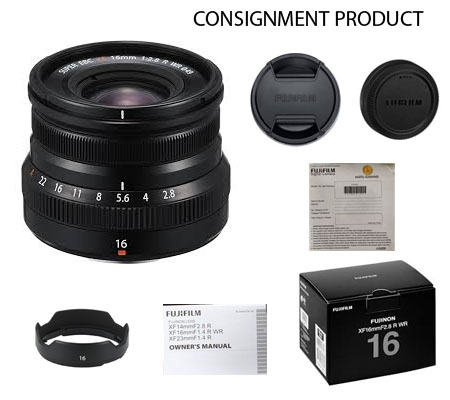 :::USED:::Fujifilm XF 16mm f/2.8 R WR Black (Ex-Mint) Kode 003 Consignment