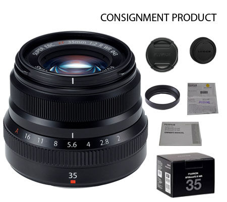 :::USED:::Fujifilm XF35mm f/2 R WR Black Mint # 923 Consignment